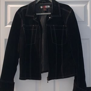 Fo leather suede black jacket